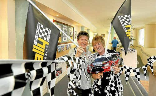 Our very own Jenny Loader and Paula Milliken decorate the Coffs Coast Advocate office.