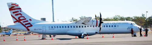 The new ATR 72-500 plane could replace the E-170 jets on Virgin Australia flights to Hervey Bay.