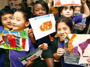 Caterpillar inspires kid creations