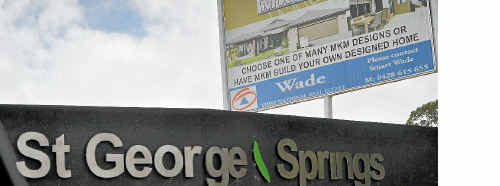It is unclear what will happen with the St George Springs development.
