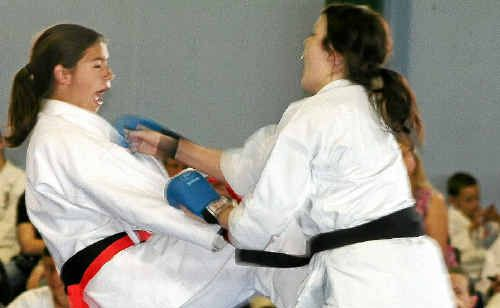 Bundaberg Karate Club's Amber Beattie at the Queensland Championships in Emerald.