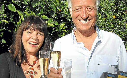 ALL SMILES: Annie and Franco Ivancich from Byron Bay Coffee Company celebrate their recent win at the Royal Hobart Fine Foods Awards.