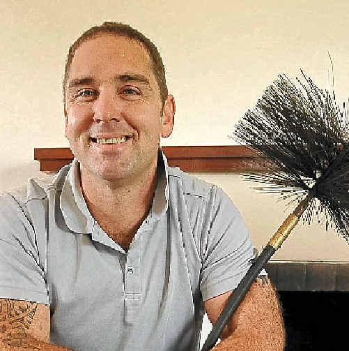 Chimney sweep Gary Murphy.