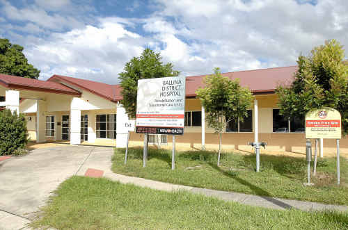 Ballina District Hospital where the patient was admitted before being transferred.