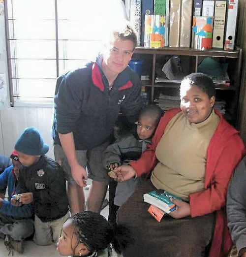 EYE OPENING: Mackay Anglican School Year 11 student Jacob Pederson was shocked by the poverty and homelessness in Pretoria, South Africa.