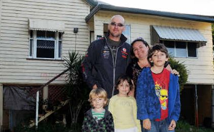 GRANTHAM RESIDENTS SEAN, Teresa,Lachlan, Jessica and Michael Hook are looking forward to a new start on their block at the new development on higher ground.