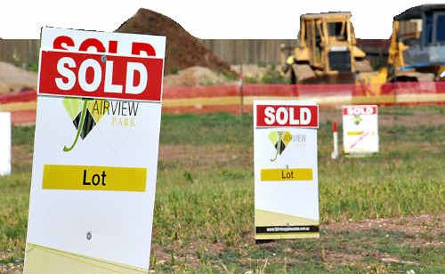 The good days, pictured here, have gone for now, according to latest real estate figures.