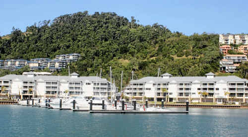 The Port of Airlie development has gone into receivership before its completion but day-to-day operations aren't expected to change.