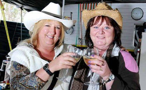 Basil Beck and Angela Dalgleish toast the Muster.