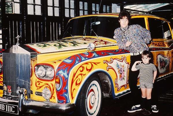 John Lennon and his Rolls Royce.
