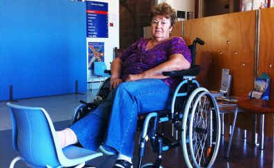 Narelle Larkin couldn't get the required treatment for her fractured ankle at the Emerald Hospital.