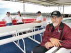 Mikat skipper Ken Smith with crew members Mick McAndrew, Jodie Kirkwood and John Dickie await passengers.