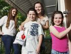 Rosalind Bowd and her children Tiffany, 15, Tanita, 7, and Tristan, 11, will be collecting for the Heart Foundation.