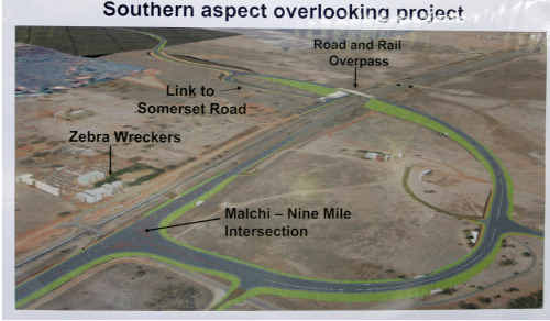 Concept drawing of the Gracemere industrial precinct overpass.
