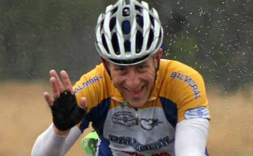 Balmoral Cycling Club member Dean Winchester rides on Yangan Rd in the Queensland Road Championships.
