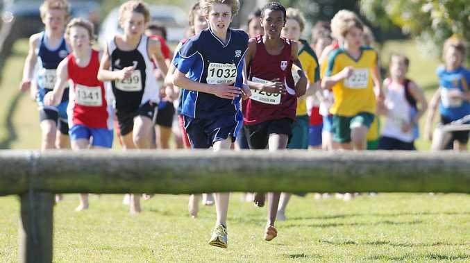 Year eight boys cross country race.