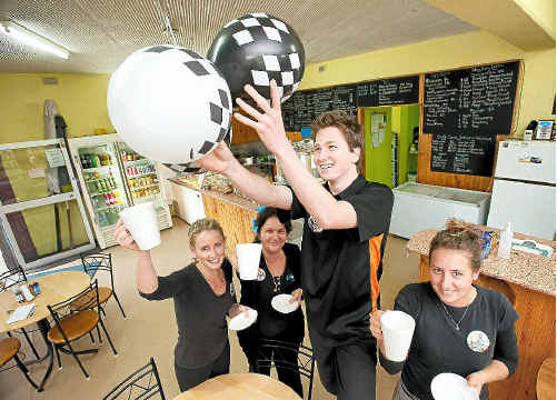 Bonetto's Cafe staff Jade Hearn, Nadia Boyce, Zack McDonald and Niki Wood.