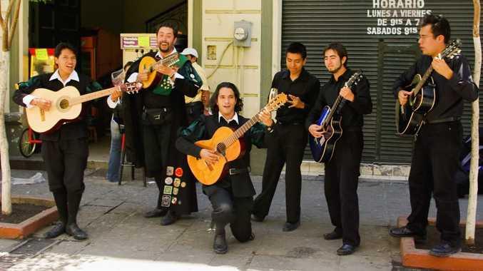 Serenading in Guadalajara.