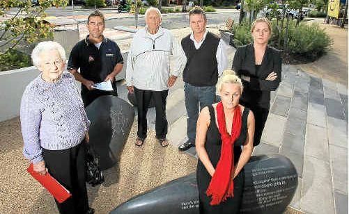 Cabarita business owners Shaun Priest, Mark Howlett, Nev Collie, Mary Collie, Lara Howlett and Hayley Steel.