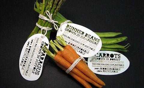 Plantable, Biodegradable Vegetable Labels.