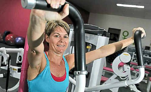 Caroline Cullen works out at Fernwood Gym.
