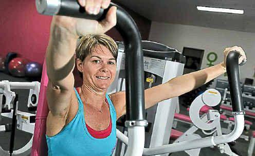 Caroline Cullen works out at Fernwood Gym.