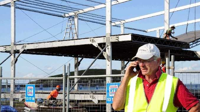 Rally Australia's project manager for the super special stage Rob Van Leeuwen and the corporate suite overlooking the harbourside circuit.