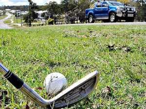 Golf balls danger to motorists