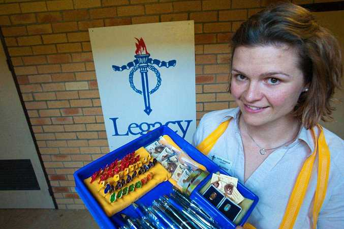 ENDURING LEGACY: Jordie Murphy and an army of volunteers will be out in force for Legacy Badge Day.