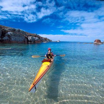 Kayaking off Three Hummock Island.