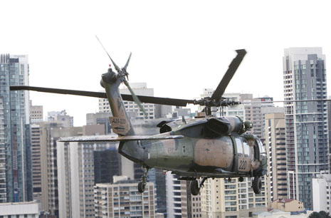 Have you heard the helicopters over the Coast this week?