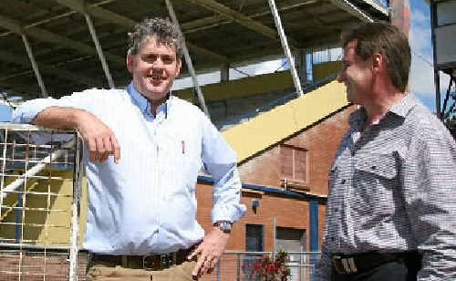 Contour Consulting Engineers director Brett Thomson and Racing Queensland's project director Mark Snowdon discuss the redevelopment at Ooralea Racecourse.