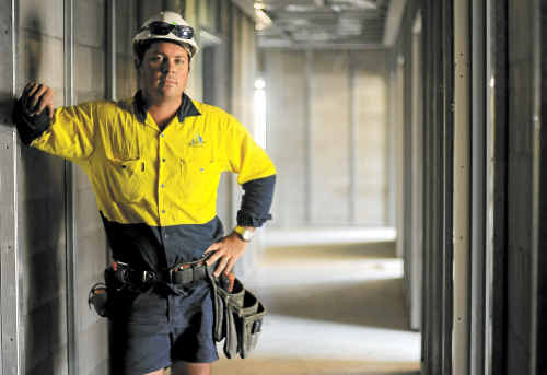 Tradesman Clinton Luke considers paid parental leave for fathers would help.