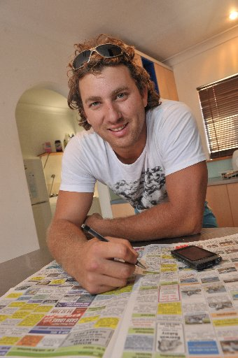 Research shows flatmates rarely fall in love but Luke Rowlinson is looking to beat the trend.