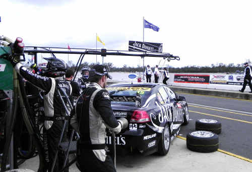 MICRO SECONDS: Join the pit crew and feel the pressure build moments before tyre changes and refuelling.