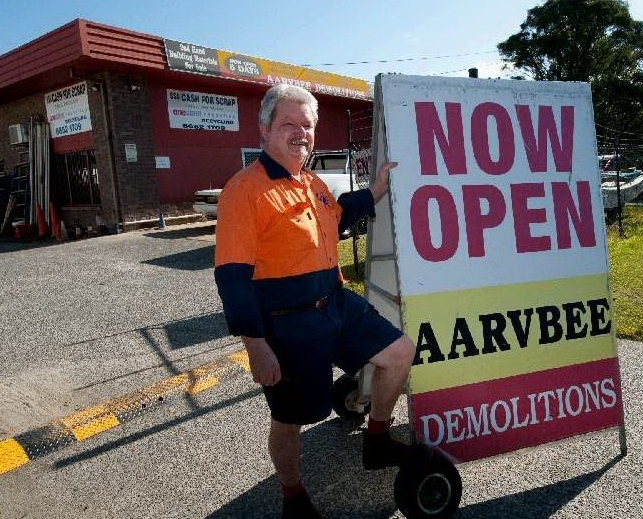 Bob Bell at the Fraser Drive headquarters of Aarvbee Demolitions and Recyclers.