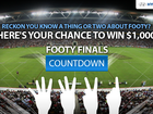 Answer the footy quiz each week for the next four weeks and at the end of the competition, the top 3 points-scorers will win $1000, $500 and $300 cash*...
