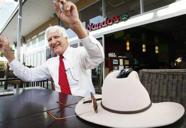 Katter put the fun into a party briefing in Brisbane.