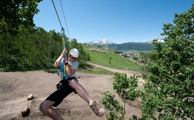 Crested Butte Mountain Resort has a Zip-Line Canopy Tour.