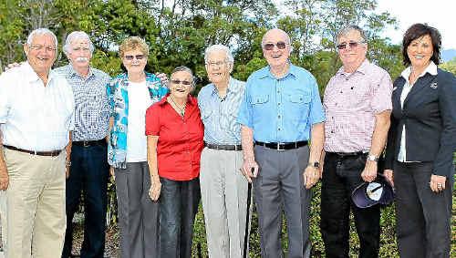 Ray Thompson, Mick Geraghty, Pauline Hunter, Margaret Wilkinson, Graeme Gough, Ian Ross, Ken Montgomery and Suzy Cornelius.