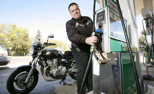 Daniel Vorbach, 34, of Raceview only uses premium fuels in his motorcycle, saying the ethanol blend fuel is less cost effective.