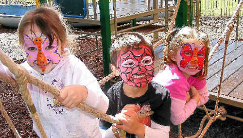 OUR FUTURE: Alstonville Baptist Community Preschool youngsters Ashlyn Bailey, 4, Jonathan Wiltshire, 4, and Yasmin King, 4, are looking forward to the monster garage sale and children's expo this weekend.