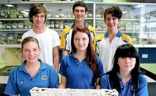WHIZ KIDS: Mullumbimby High School's outstanding science students.