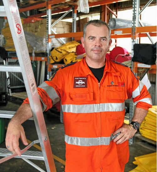 ASSOCIATION: Mackay SES volunteer Justin Englert has been organising an SES association.