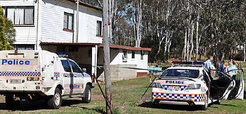 MURDER SCENE: The Nanango home where Michael Tomsen was stabbed to death. PHOTO: Clive Lowe/South Burnett Times