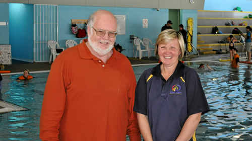 Warwick Disability Action Week group member Mick McEniery and WIRAC aquatic co-ordinator Karen Peters look forward to the fun day this Friday.