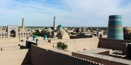 View over the ancient Silk Road town of Khiva.