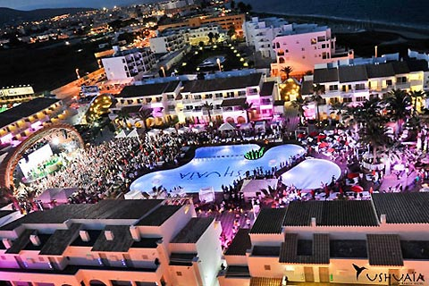 One of Ushuaia Hotel's pool parties.