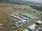 SKY HIGH: An aerial shot of the Rally Australia Service Park shows how the World Rally Championship round have transformed the Coffs Harbour Regional Airport.
