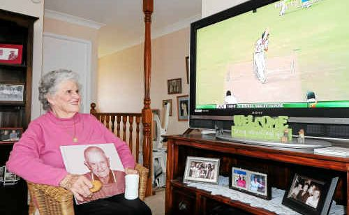 Lola Lyon is closely following grandson Nathan Lyon's Test debut.